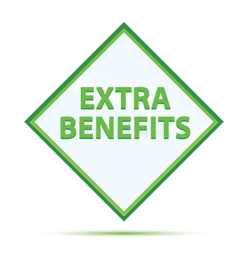 O acréscimo beneficia o botão verde abstrato moderno do diamante ilustração royalty free