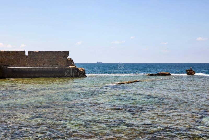 O acre era uma cidade portuária importante em épocas antigas O porto moderno é encontrado onde o porto antigo se usou para estar  fotografia de stock royalty free