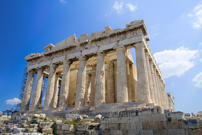 O Acropolis, Atenas fotos de stock