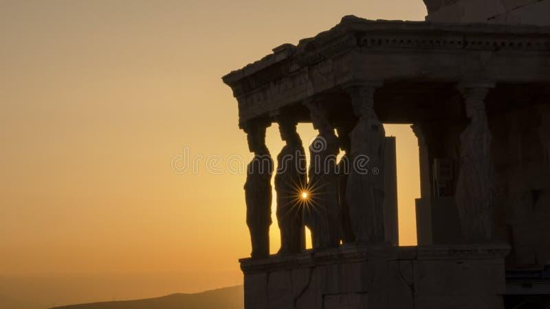 O Acropolis, Atenas fotografia de stock