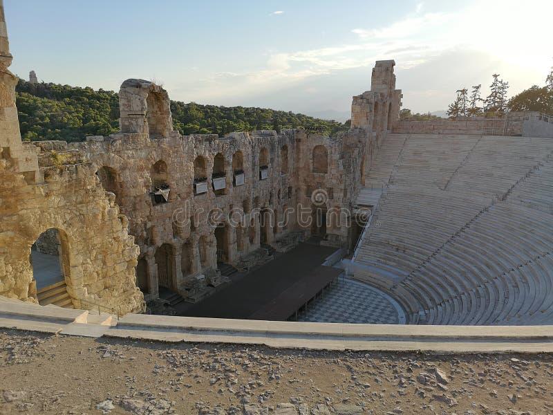 O Acropolis de Atenas, Greece fotografia de stock