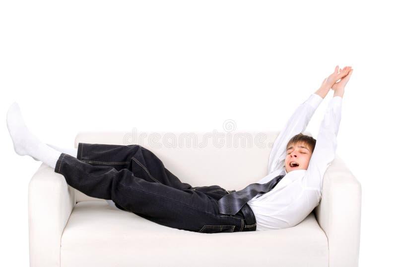 O adolescente acorda foto de stock royalty free