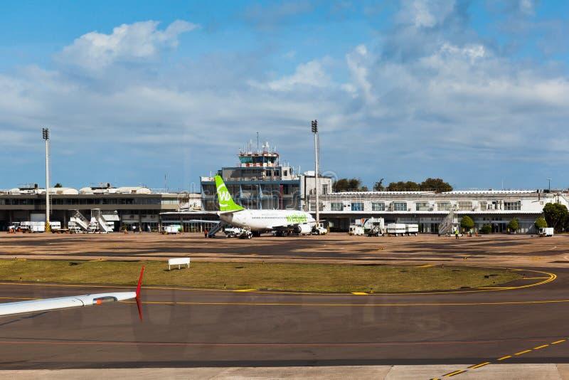 O aeroporto Rio Grande de Porto Alegre faz Sul Brasil fotografia de stock