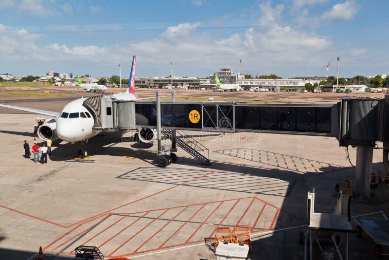 O aeroporto Rio Grande de Porto Alegre faz Sul Brasil fotos de stock royalty free