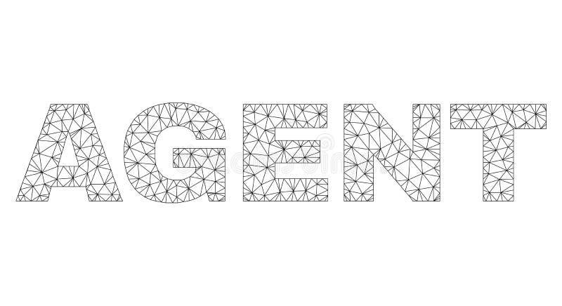 2.o AGENTE poligonal Text Tag ilustración del vector