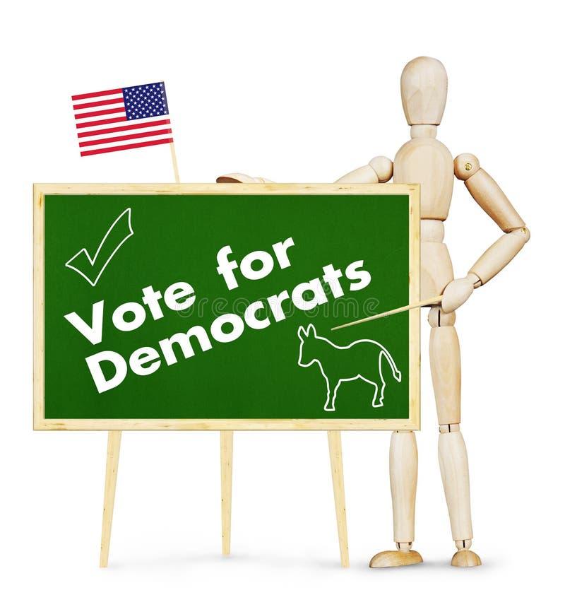 O agitador incentiva o voto para Democratas em eleições dos E.U. fotografia de stock royalty free