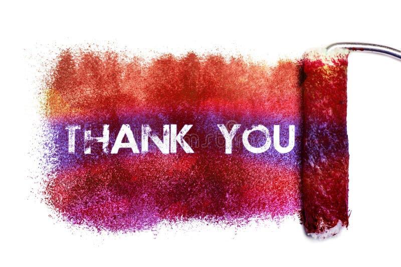 O agradecimento você pintura ilustração royalty free