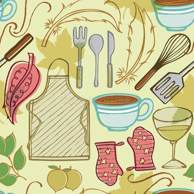 O agregado familiar da cozinha objeta 2 ilustração royalty free