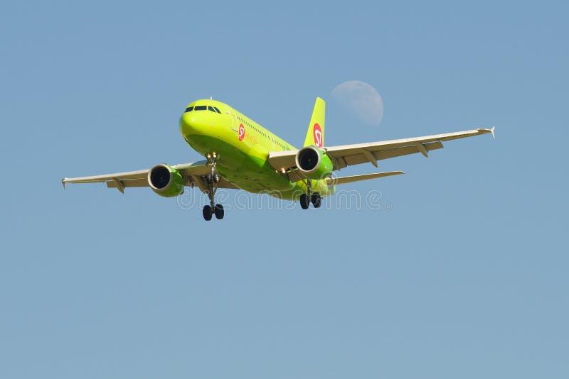 O Airbus A319 de S7 - linhas a?reas de Sib?ria foto de stock royalty free