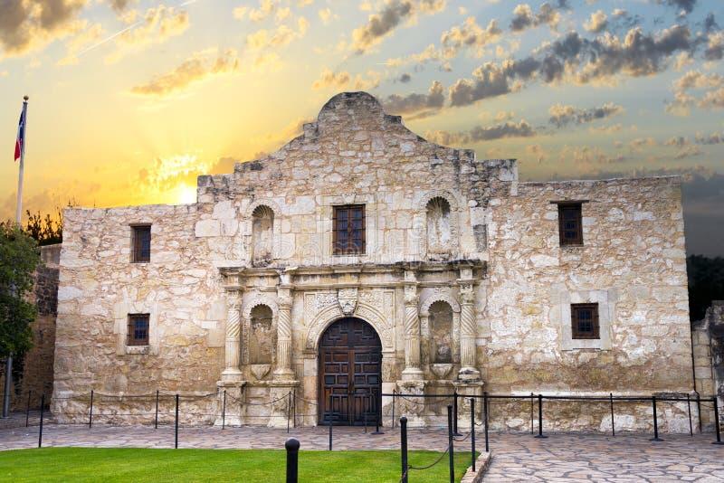 O Alamo, San Antonio, TX imagens de stock