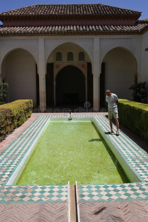 O Alcazaba de Malaga na Espanha de Andalucia fotografia de stock