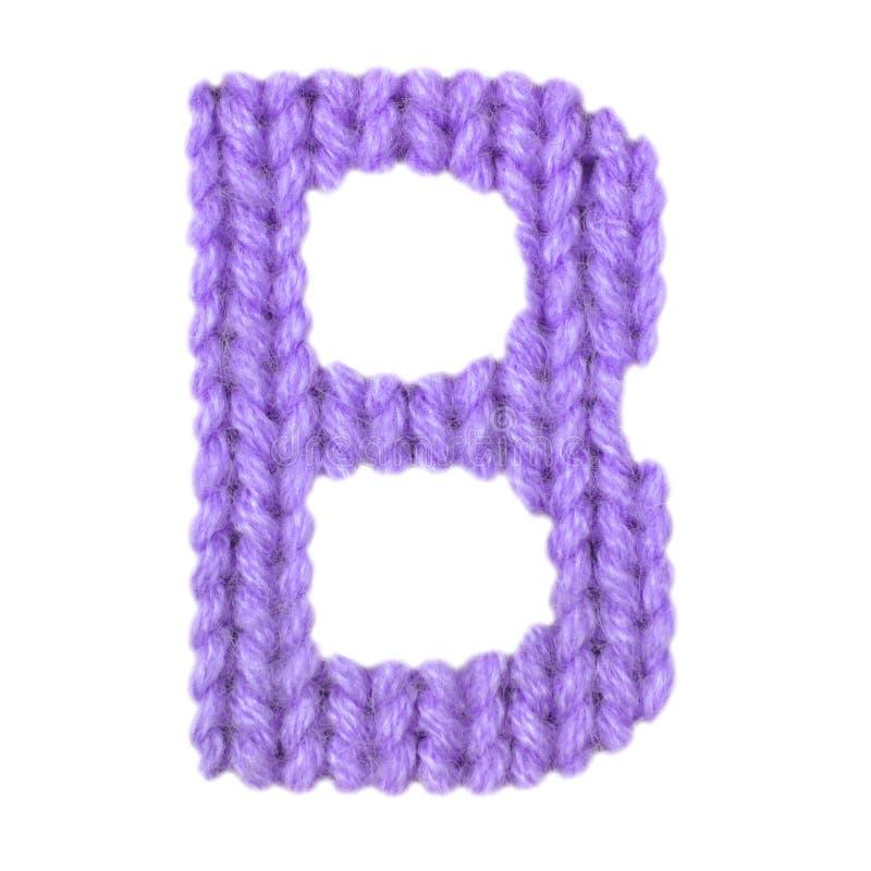 O alfabeto inglês da letra B, colore o roxo foto de stock