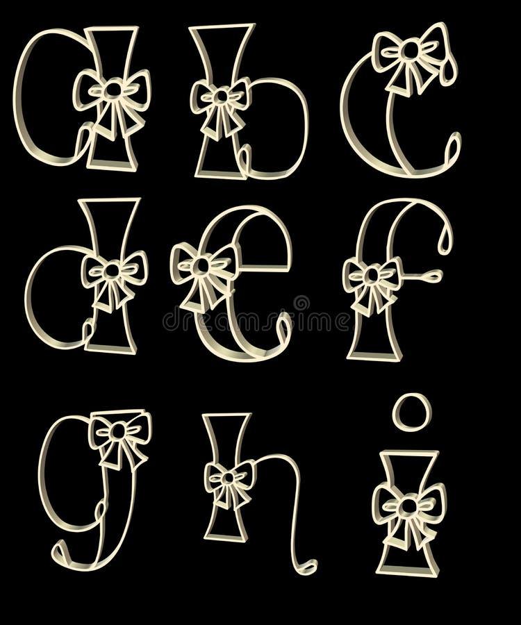 Download O alfabeto rotula a - i ilustração stock. Ilustração de projeto - 12809777