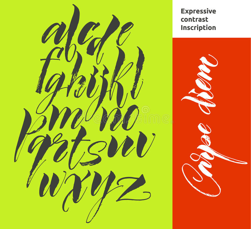 O alfabeto rotula a placa de giz ilustração royalty free