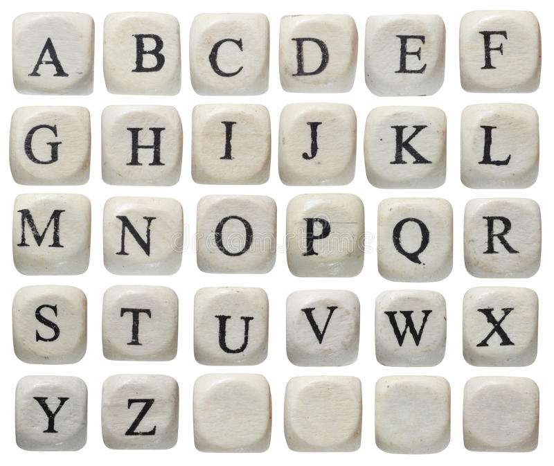 O alfabeto rotula a placa de giz fotos de stock royalty free