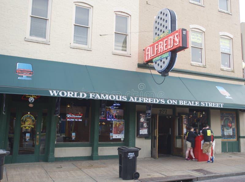 O Alfred mundialmente famoso, Memphis Tennessee fotografia de stock