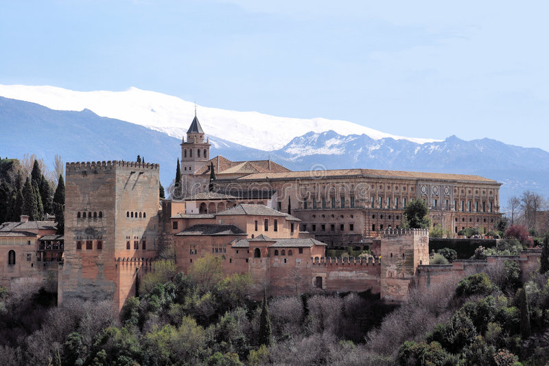O Alhambra em Granada fotografia de stock
