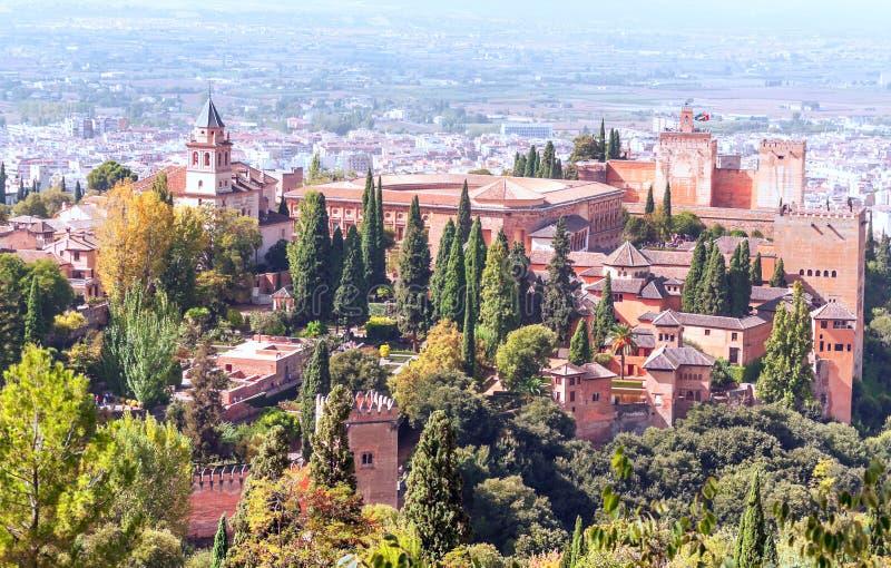 O Alhambra em Granada imagens de stock royalty free