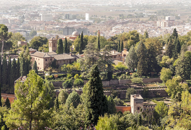 O Alhambra em Granada fotografia de stock royalty free