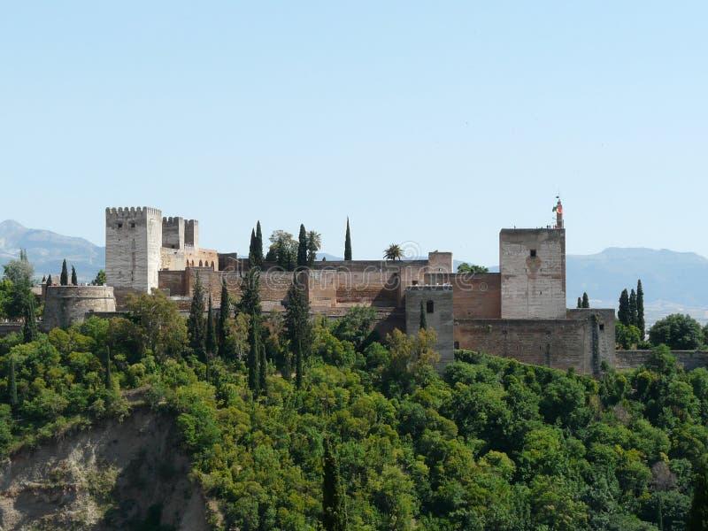 O Alhambra em Granada, Spain imagem de stock royalty free