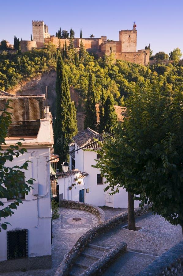 O Alhambra em Granada, Spain fotos de stock royalty free