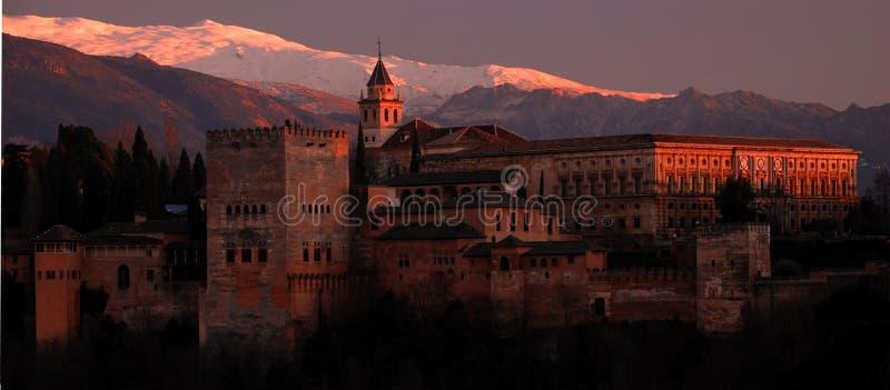 O Alhambra, Granada, Spain foto de stock royalty free