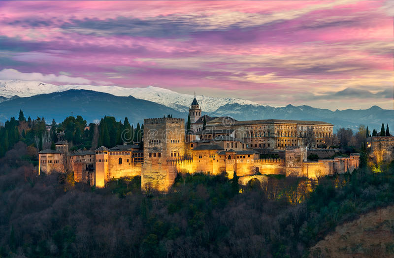 O Alhambra majestoso imagem de stock royalty free
