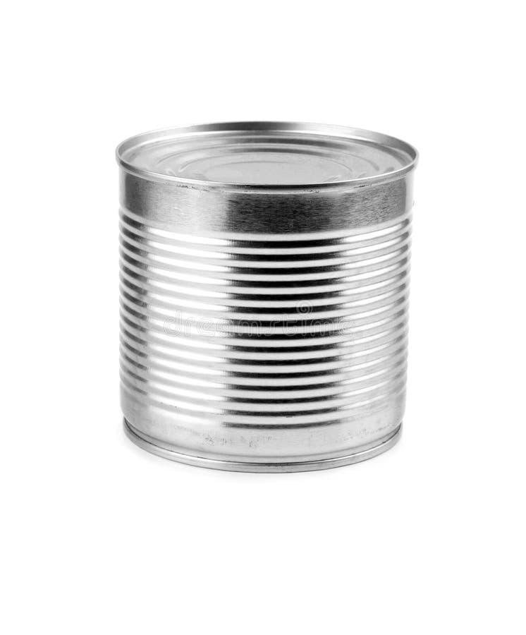 O alimento pode isolado fotografia de stock