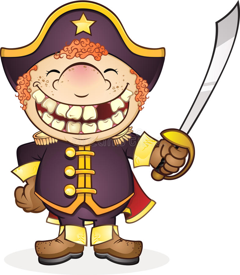 O almirante Geral ilustração stock