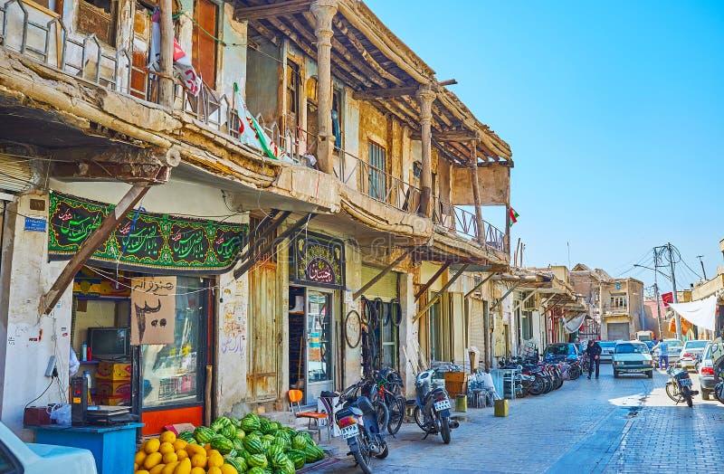 O alojamento velho de Isfahan, Irã fotografia de stock royalty free