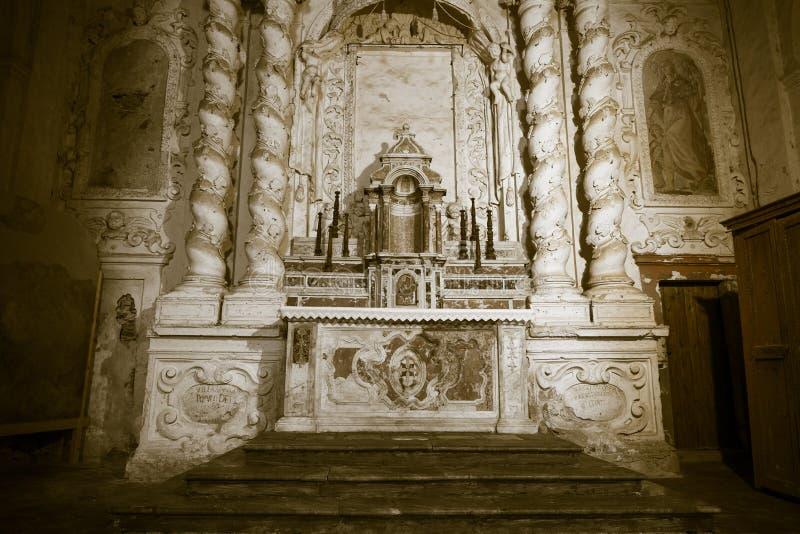 O altar antigo fotografia de stock