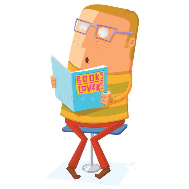 O amante de livro leu um livro ilustração royalty free