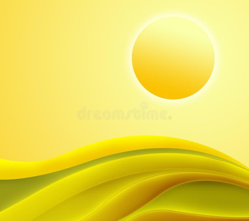 O amarelo abstrato acena o fundo fotos de stock