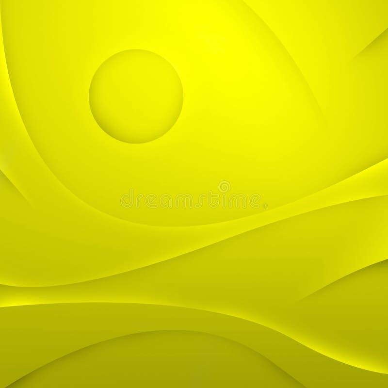 O amarelo abstrato acena o fundo imagens de stock
