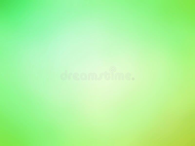 O amarelo abstrato do verde do inclinação coloriu o fundo borrado ilustração royalty free