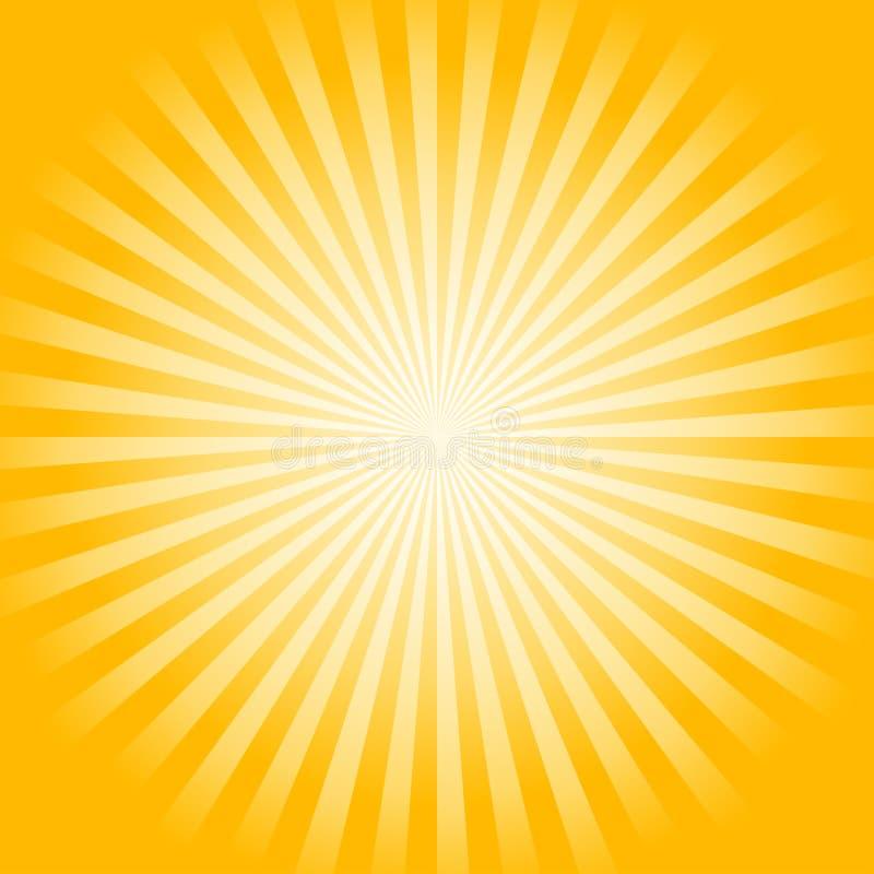 O amarelo brilhante macio abstrato irradia o fundo Vetor ilustração stock