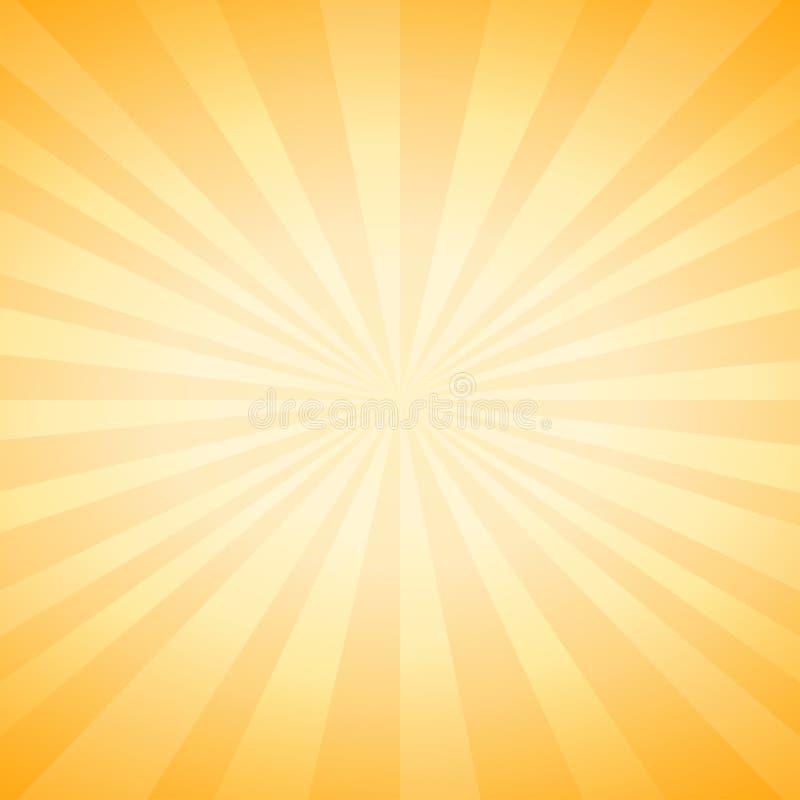 O amarelo macio abstrato irradia o fundo Vetor ilustração do vetor