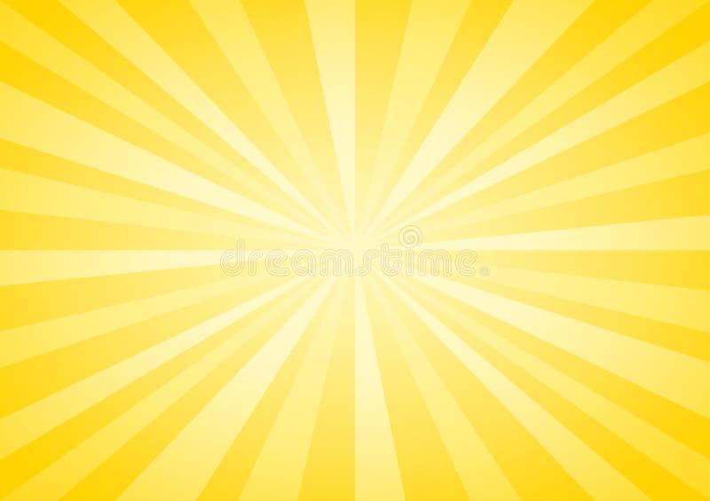 O amarelo macio abstrato irradia o fundo Vetor EPS 10, cmyk ilustração royalty free