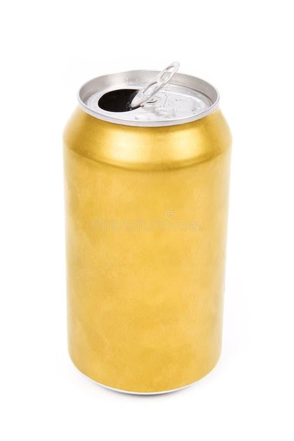 O amarelo pode fotografia de stock