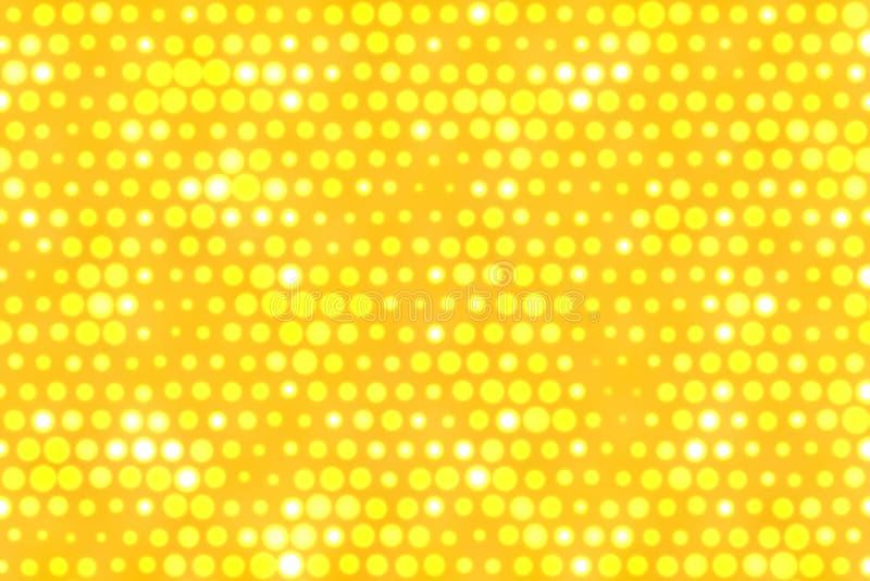 O amarelo pontilha o fundo ilustração royalty free