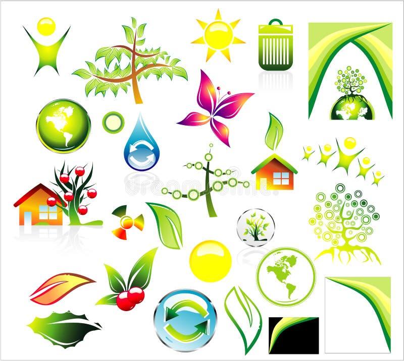 O ambiente recicl o jogo do ícone ilustração royalty free