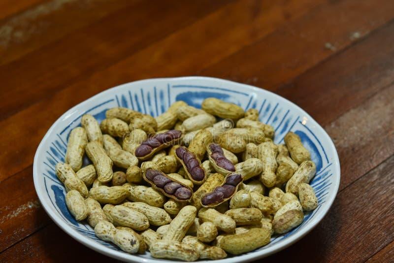 O amendoim fervido fotos de stock