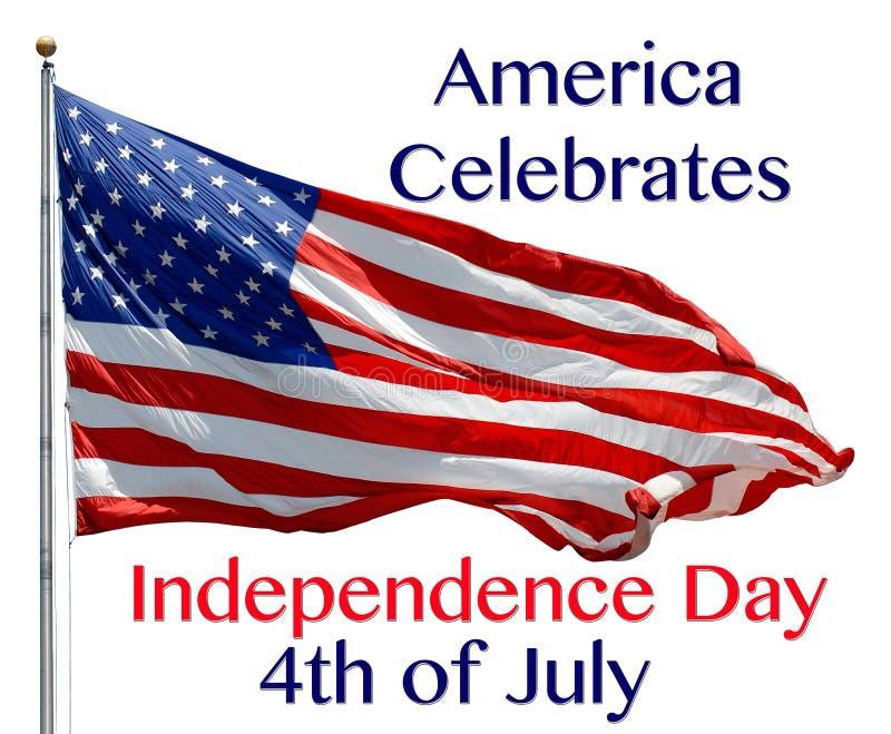 O americano comemora ilustração royalty free