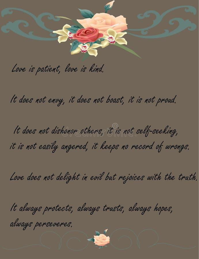 O amor é… marcador do rosa no fundo branco ilustração stock
