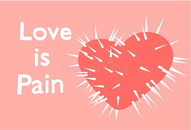 O amor é dor ilustração do vetor