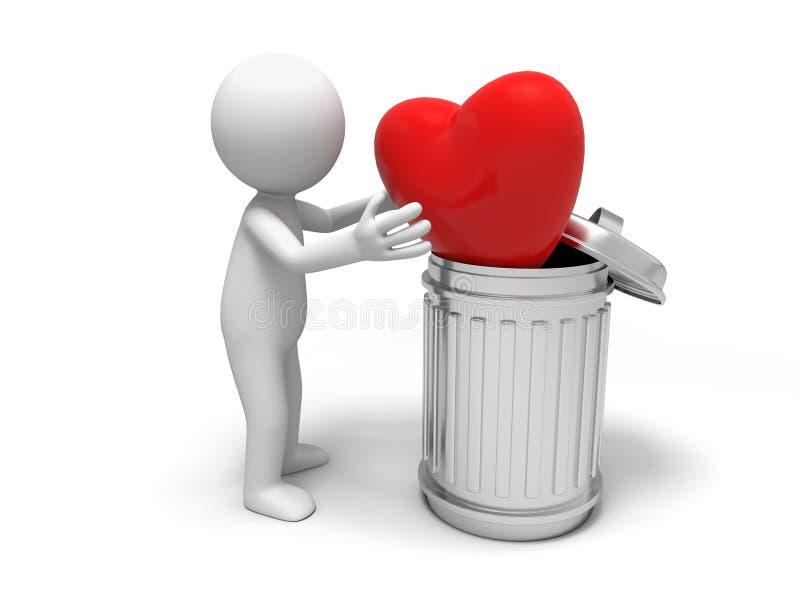 O amor ilustração stock