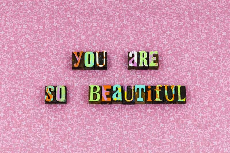 O amor agradece-lhe tipografia grata bonita imagens de stock