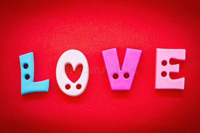 O amor da palavra, nas letras imagens de stock royalty free