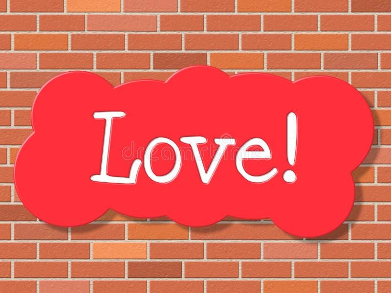 O amor do sinal indica a exposição e o amor da piedade ilustração do vetor