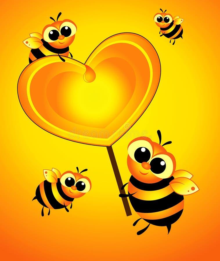 O amor doce é um coração ilustração royalty free